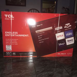 TCL 55 Inch 4K TV for Sale in Downey, CA