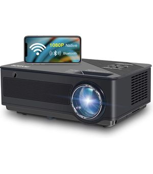 Native 1080p Full HD Projector, WiFi Projector, Bluetooth Projector, FANGOR 7500 Lumens/250 Display/ Contrast 8000: 1 Full HD Theater Projector with for Sale in Monterey Park, CA
