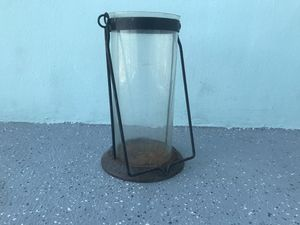 Antique Lantern in Iron with Glass for Sale in Miami, FL