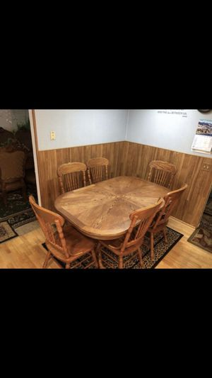 Table and six chairs for Sale in Bothell, WA