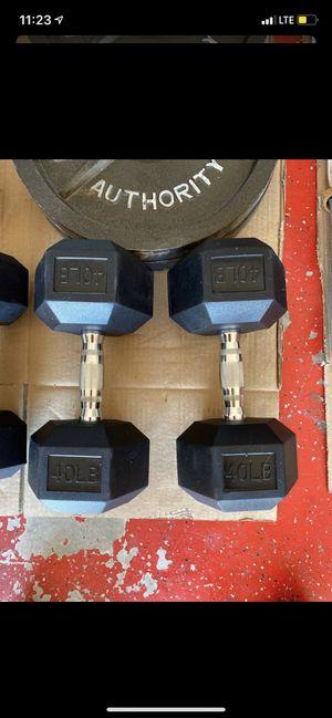 40 POUND DUMBBELLS for Sale in Tempe, AZ
