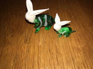 Antique hand blown glass bunnies for Sale in Baltimore, MD