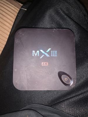 MX3 4K Android TV Box for Sale in Glendale, AZ