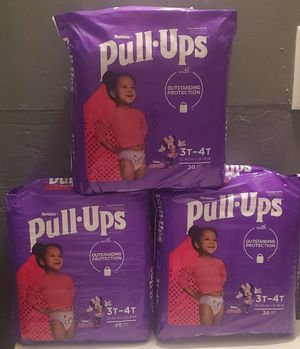 Huggies pull- ups girl size 3T- 4T for Sale in Mesa, AZ