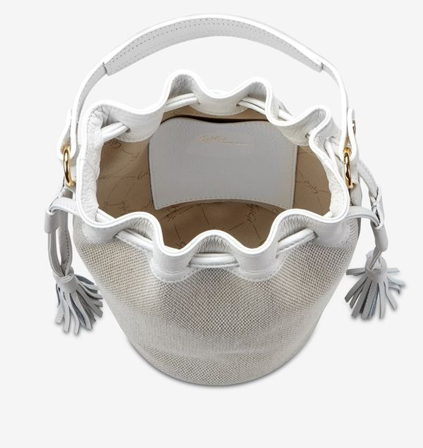 White Bucket purse (Genevieve) By Gigi New York