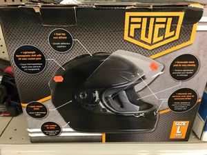 Adult helmet size large full face Street glass black open box it's now for Sale in Parma Heights, OH
