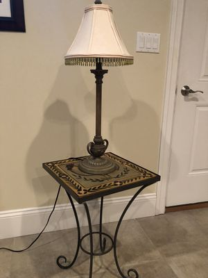 Lamp w cream shade for Sale in Saugus, MA