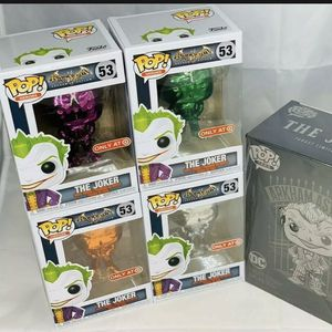 Funko Pop LOT TARGET Exclusive BATMAN ARKHAM ASYLUM JOKER 53 Chrome and Special for Sale in Palmdale, CA