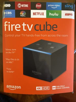 Amazon fire tv cube 4K HDR for Sale in Anaheim, CA