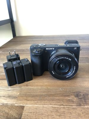 Sony a6500 with Kit Lens + 4 Batteries for Sale in San Diego, CA