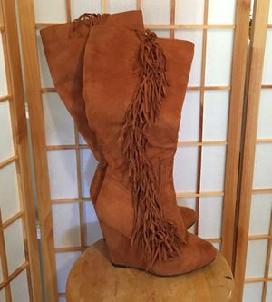 Brown suede firing boots for Sale in Columbus, OH