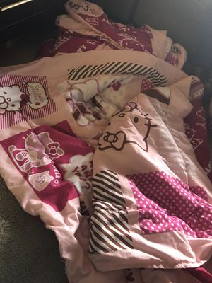 2 double sided Hello Kitty twin sized comforters for Sale in Mountain View, CA