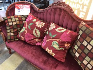 2 set couches red velvet antique for Sale in Los Angeles, CA