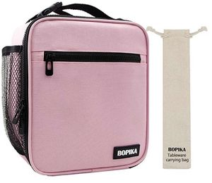 Insulated Lunch Bag, Bento Lunch Bag Thermal Cooler Meal Prep Lunch Bag with Portable Tableware Carrying Bag For Men &Women &Kids (Pink) for Sale in Falls Church, VA