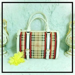 Burberry Haymarket Check Alchester Satchel Bag Handbag Purse for Sale in Bellingham, WA