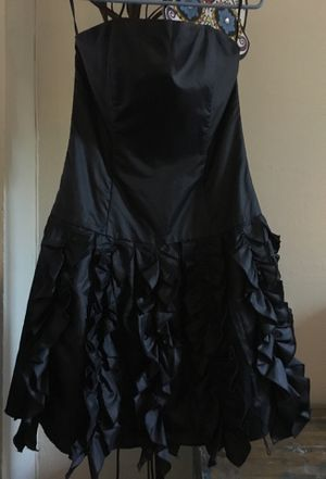 Jessica McClintock Made in USA BLACK Halloween PARTY DRESS Size 8 for Sale in San Rafael, CA
