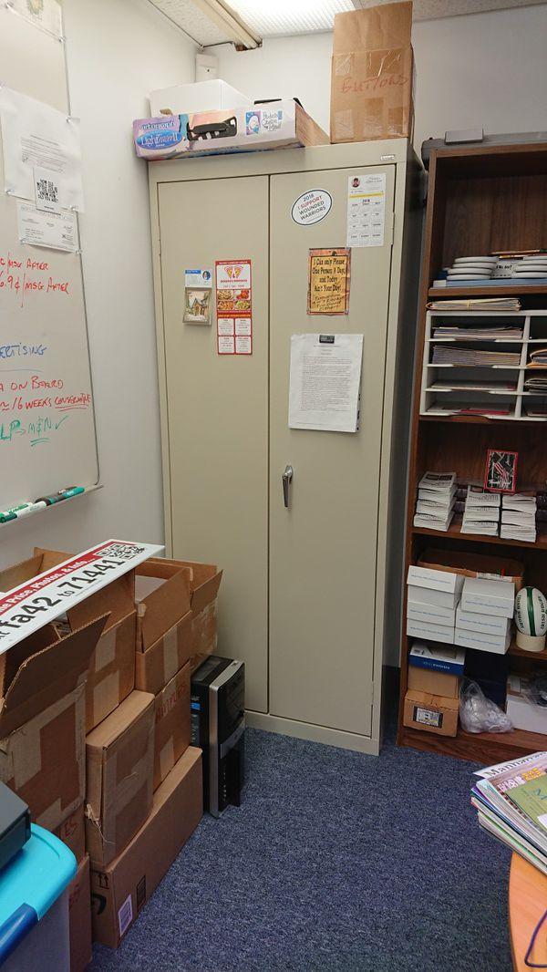 Office Cabinet, Steel, Lockable, As New