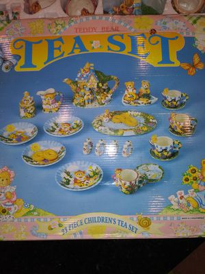 Child's teddy bear ceramic tea set for Sale in Chandler, AZ
