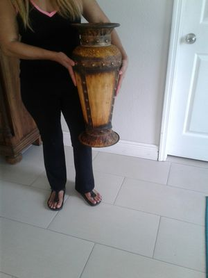 Floor Metal vase size 22 inches high for Sale in Orlando, FL
