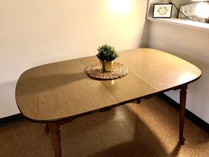 Solid Dining Table with 2 Leaves-fits in the backseat of your car!!! for Sale in Columbus, OH