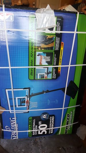 """NEW Spalding 50"""" basketball hoop for Sale in Windsor Mill, MD"""