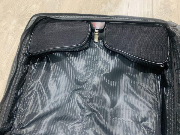 Use 2-Pc Tumi Black Garment bag Travel Rolling Wheels On Luggage Bags
