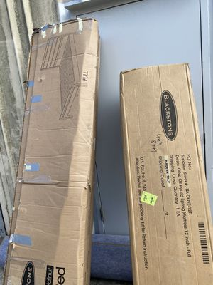 "Blackstone Amalfi 12"" Memory Foam Full Mattress and Platform Bed Set for Sale in San Leandro, CA"