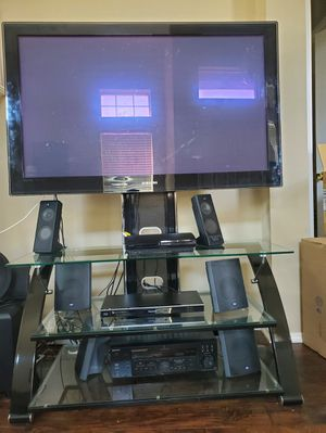 "55"" Samsung. TV stand & Sound System & Blue Ray for Sale in Frisco, TX"