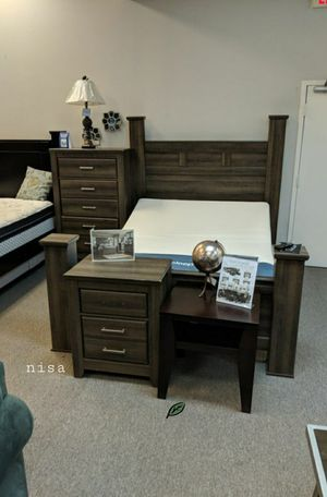 Special for Black Friday ‼ SALES Quinden Dark Brown Poster Bedroom Set | B246 for Sale in Jessup, MD