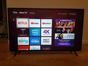 """TCL 55"""" 4K ULTRA HD ROKU TV for Sale in Portland, OR"""