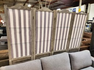 4 Panel Room Divider, Grey for Sale in Fountain Valley, CA