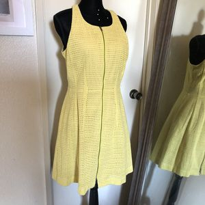 Bcbg yellow zipper dress size 12 large for Sale in San Diego, CA