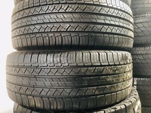 Two 245/60/18 Michelin Latitude All Season 65 to 70% Lightly Used Tires for Sale in Covington, KY
