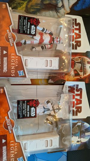 Brand new sealed from 2009 Star Wars Legacy Collection Shock trooper and 501st legion Action Figure for Sale in Los Angeles, CA