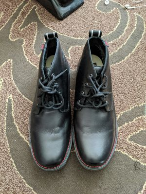 Men's size 13 Chrome Leather boots, look new, son bought but never wore. for Sale in Everett, WA