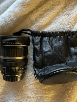 Canon 10-22mm Lens With Lens Pouch for Sale in Sacramento,  CA
