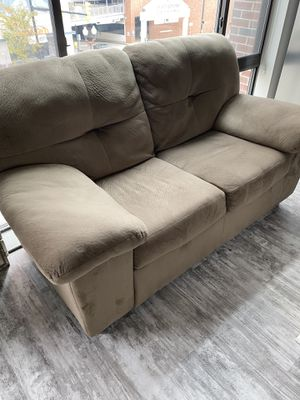 Brown/taupe loveseat for Sale in Arlington, VA