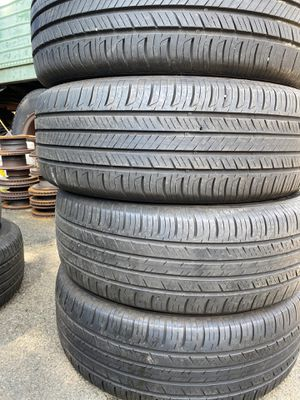 Set 4 usted tire 235/60R18 HANKOOK one have two patch set 4 used tire $200 for Sale in Alexandria, VA