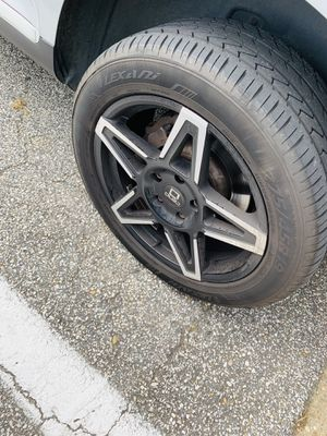 Fairly used Hanover Black rims 19 inch 5|130 rims for Sale in Odenton, MD
