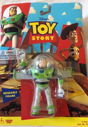 1995 Disney Thinkway Toy Story BUZZ LIGHTYEAR Bendable Figure 62861 for Sale in Menifee, CA