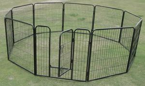 Brand new 32 inch tall x 32 inches wide each panel x 8 panels heavy duty exercise playpen (blue tarp not included) for Sale in Whittier, CA