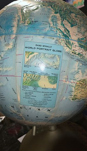 Ran McNally world portrait globe for Sale in New London, MO