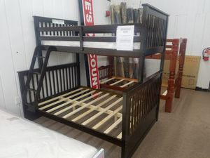 Twin full wooden bunk bed only for Sale in Beltsville, MD