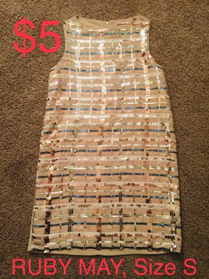 RUBY MAY, Beige Sleeveless Sequined Dress, Size 2 for Sale in Phoenix, AZ