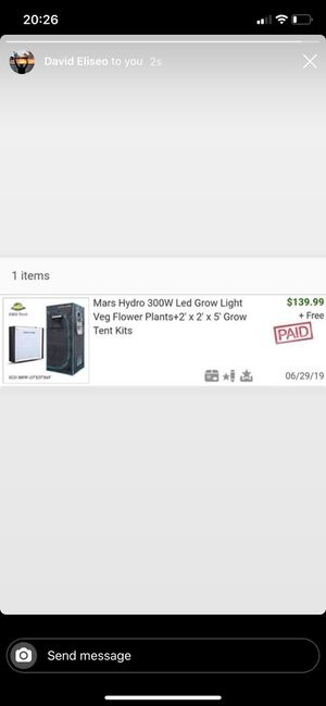 Mars hydro 300W led grow light tent kit for Sale in Chicago, IL