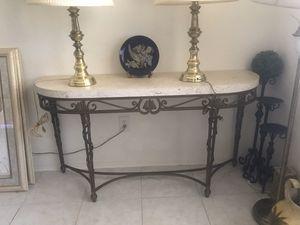 Big stone top console table for Sale in Pompano Beach, FL