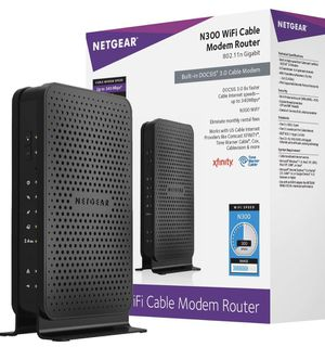 Netgear N3000 Cable modem + Router wifi for Sale in Houston, TX