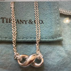 Authentic Tiffany Infinity Necklace Silver for Sale in Weston, FL