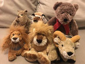 Stuffed Animals Lion, Tiger, Bear, Rhino, Ram, + Little Lion for Sale in Peoria, AZ