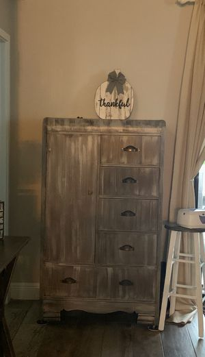 Rustic antique farmhouse shabby chic armoire for Sale in NEW PRT RCHY, FL